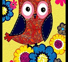 Patch work owl by AderynValentine