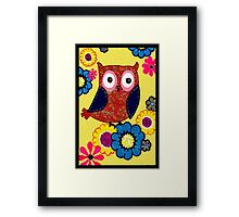 Patch work owl Framed Print