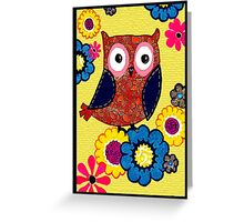 Patch work owl Greeting Card