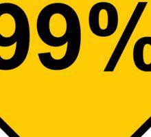 Occupy Movement - 99 percent ahead Sticker
