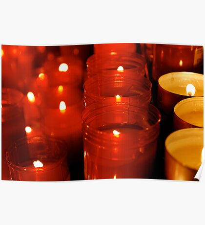 Cathedral candles Poster