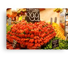Mutant strawberries Canvas Print