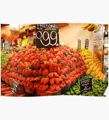 Mutant strawberries Poster
