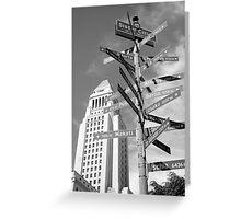 Downtown LA Greeting Card