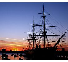 HMS Warrior at Sunset Photographic Print