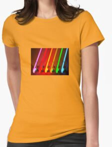 Neon Rainbow  Womens Fitted T-Shirt