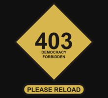 Occupy Movement - 403 Democracy Forbidden Please Reload by wetdryvac