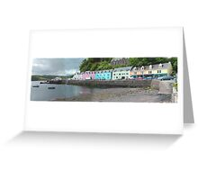 Portree Harbour View Greeting Card
