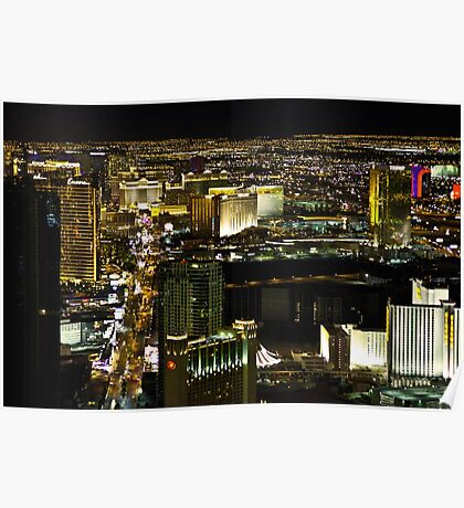 The Strip from the Stratosphere Poster