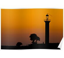Broadwater Beach Hotel Marina Channel Light  Poster