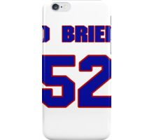 National football player Dave O'Brien jersey 52 iPhone Case/Skin