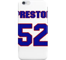 National football player Ray Preston jersey 52 iPhone Case/Skin