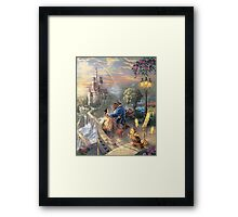 The Beauty and The Beast Disney - All Characters Framed Print