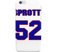 National football player Jimmy Sprotte jersey 52 iPhone Case/Skin