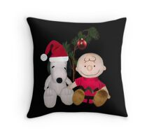 SNOOPY & CHARLIE BROWN CHRISTMAS PILLOW AND OR TOTE BAG Throw Pillow