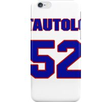 National football player Terry Tautolo jersey 52 iPhone Case/Skin