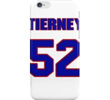 National football player Leo Tierney jersey 52 iPhone Case/Skin