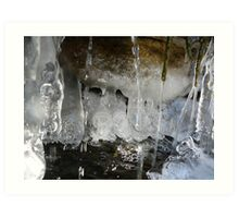 Freezing Waterfall Art Print