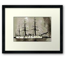 British Cruiser Calliope 1880 - all products bar duvet Framed Print