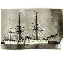 British Cruiser Calliope 1880 - all products bar duvet Poster