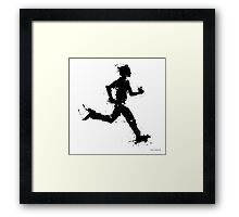 Male runner Framed Print