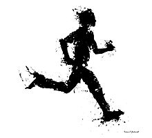 Male runner Photographic Print