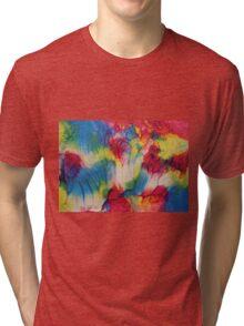 """""""Tropical"""" original artwork by Laura Tozer Tri-blend T-Shirt"""