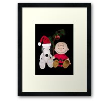 SNOOPY & CHARLIE BROWN FESTIVE CHRISTMAS PICTURE AND OR CARD ECT Framed Print