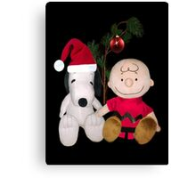 SNOOPY & CHARLIE BROWN FESTIVE CHRISTMAS PICTURE AND OR CARD ECT Canvas Print