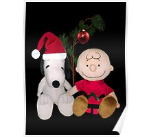 SNOOPY & CHARLIE BROWN FESTIVE CHRISTMAS PICTURE AND OR CARD ECT Poster