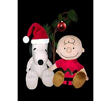 SNOOPY & CHARLIE BROWN FESTIVE CHRISTMAS PICTURE AND OR CARD ECT Photographic Print