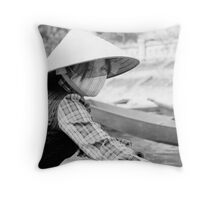 Yen Vi River Throw Pillow