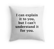 I Can Explain It To You Throw Pillow