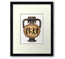 Greek vase Framed Print