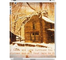 Winter Homeplace Greeting Card iPad Case/Skin
