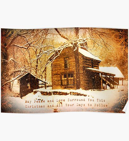 Winter Homeplace Greeting Card Poster