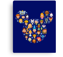 Disney Movies - All Characters Canvas Print
