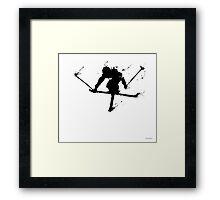 Ski jump Framed Print