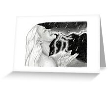 Storm Goddess Greeting Card