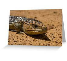 Lizard in the Outback Greeting Card