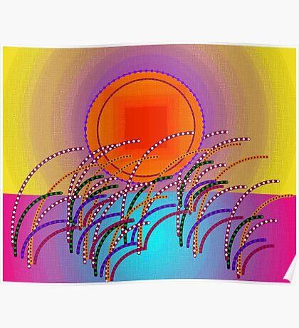 Color Landscape Sunrise Poster