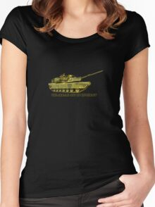 Abrams Tank Art of Diplomacy Women's Fitted Scoop T-Shirt