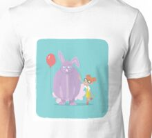 Bunny and Girl Unisex T-Shirt
