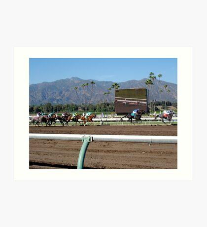 The Races Art Print