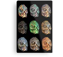 Skyrim Pixel Dragon Priest Masks Metal Print