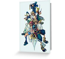 Kingdom Hearts - Sora and All the Others Lovely Portrait Greeting Card