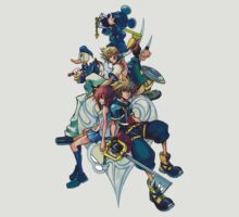 Kingdom Hearts - Sora and All the Others Lovely Portrait T-Shirt