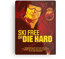 Ski Free or Die Hard Metal Print