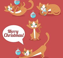 Christmas Cat by carinapope