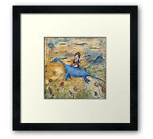 Amelia and Nessie Framed Print